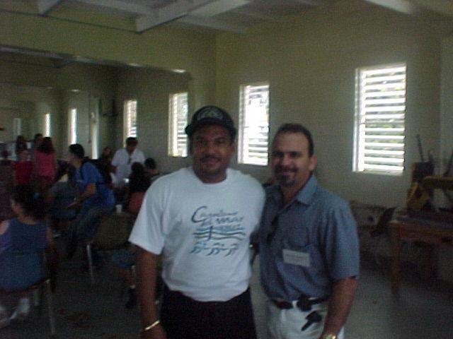 Jose Rivera y Nachy.  Foto cortesia de Paxie.